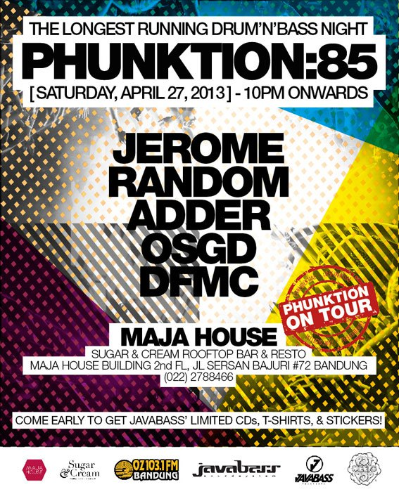 Saturday, 27/04/14 PHUNKTION:85 at Maja House, Bandung
